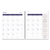 Blueline DuraGlobe 14-Month Planner, Hard Cover, 11 x 8 1/2, Black, 2017