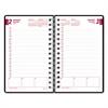 DuraFlex Daily Planner, 5 x 8, Black, 2017