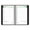 Brownline EcoLogix Recycled Daily Planner, 30-Minute Appts, Wirebound, 8 x 5, Black, 2017