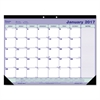 Blueline Desk Pad Calendar, 21 1/4 x 16, Blue/White/Green, 2017