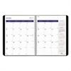Blueline DuraGlobe 14-Month Planner, Soft Corinth Cover, 11 x 8 1/2, Black, 2017