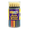 Creativity Street Colossal Brush, Natural Bristle, Round, 30/Set
