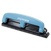 inPRESS Three-Hole Punch, 12-Sheet Capacity, Blue/Black