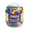 Creativity Street Colossal Barrel of Clay Tools, 144 Cutters in 24 Designs, Five Tools in Each