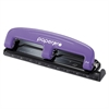 PaperPro inPRESS Three-Hole Punch, 12-Sheet Capacity, Purple/Black