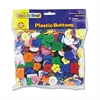 Chenille Kraft Plastic Button Assortment, 1 lbs., Assorted Colors/Sizes