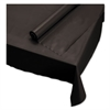 "Hoffmaster Plastic Roll Tablecover, 40"" x 100 ft, Black"