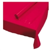 "Hoffmaster Plastic Roll Tablecover, 40"" x 100 ft, Red"
