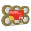 "Universal General-Purpose Box Sealing Tape, 48mm x 100m, 3"" Core, Tan, 6/Pack"