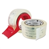 "Universal Heavy-Duty Acrylic Box Sealing Tape w/Disp, 48mm x 50m, 3"" Core, Clear, 2/Pack"