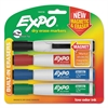 Magnetic Dry Erase Marker, Chisel Tip, Assorted, 4/Pack