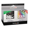 Lexmark 18C2249 (36XL, 37XL) High-Yield Ink, 500 Page-Yield, 2/Pack, Black