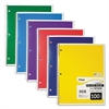Spiral Bound Notebook, Perforated, College Rule, 11 x 8, White, 100 Sheets