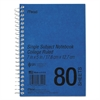 DuraPress Cover Notebook, College Rule, 7 x 5, White, 80 Sheets