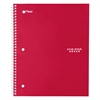 Wirebound Notebook, Legal Rule, 11 x 8 1/2, 100 Sheets, Red