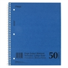 DuraPress Cover Notebook, College Rule, 11 x 8 1/2, White, 50 Sheets