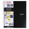 Wirebound Quadrille Notebook, 11 x 8 1/2, 100 Sheets, Assorted