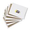 Unruled Student Dry-Erase Board, Melamine, 12 x 9, White, 10/Set