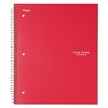 Five Star Wirebound Notebook, College Rule, 11 x 8 1/2, 100 Sheets, Red