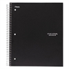 Wirebound Notebook, College Rule, 11 x 8 1/2, 100 Sheets, Black