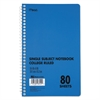 DuraPress Cover Notebook, College Rule, 9 x 6, White, 80 Sheets