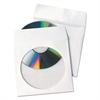 Tech-No-Tear Poly/Paper CD/DVD Sleeves, 100/Box