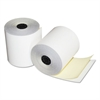 "Two-Ply Teller Window/Financial Rolls, 3"" x 90 ft., White/Canary, 50/Carton"