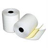 "Quality Park Two-Ply Cash Register Rolls, 3"" x 90 feet, White/Canary, 50/Carton"