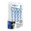 BRIGHT Air Scented Ornaments Icicle Air Fresheners, Winter Pine and Balsam, 4/BX, 6 BX/CT