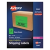 Neon Shipping Label, Laser, 8 1/2 x 11, Neon Green, 100/Box
