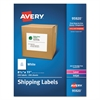 Avery Full-Sheet White Shipping Labels, Inkjet/Laser, 8 1/2 x 11, White, 250/Box