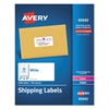Avery White Shipping Labels, Inkjet/Laser, 2 x 4, White, 2500/Box