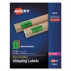 Neon Shipping Label, Laser, 2 x 4, Neon Assorted, 250/Box