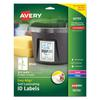 Avery Easy Align Self-Laminating ID Labels, Laser/Inkjet, 3 1/2 x 4 1/2, White, 50/PK