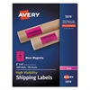 Neon Shipping Label, Laser, 2 x 4, Neon Magenta, 1000/Box