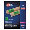 Neon Shipping Label, Laser, 2 x 4, Neon Green, 1000/Box