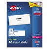 Avery Easy Peel Mailing Address Labels, Laser, 1 1/3 x 4, White, 1400/Box