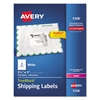Avery Shipping Labels with TrueBlock Technology, Laser, 3 1/2 x 5, White, 400/Box