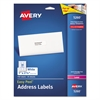 Avery Easy Peel Mailing Address Labels, Laser, 1 x 2 5/8, White, 750/Pack