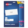 Avery Easy Peel Mailing Address Labels, Laser, 1 x 4, White, 500/Pack