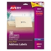 Avery Clear Easy Peel Address Labels, 1 x 2 5/8, 750/Pack