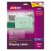 Avery Clear Easy Peel Shipping Labels, Inkjet, 2 x 4, 250/Pack