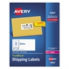 Shipping Labels with TrueBlock Technology, Laser, 2 x 4, White, 2500/Box
