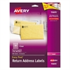 Avery Clear Easy Peel Return Address Labels, Laser, 2/3 x 1 3/4, 600/Pack