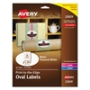 Avery Oval Print-to-the-Edge Easy Peel Labels, Laser, Matte White, 2 x 3 1/3, 80/Pack