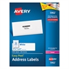 Easy Peel Mailing Address Labels, Laser, 1 1/3 x 4, White, 3500/Box