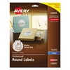 "Avery Round Labels, 2"" dia, Silver Foil, 96/Pack"