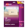 Avery Clear Easy Peel Address Labels, Laser, 1 x 2 5/8, 750/Box