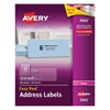 Avery Clear Easy Peel Address Labels, Laser, 1 1/3 x 4, 700/Box