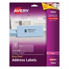 Matte Clear Easy Peel Address Labels, Laser, 1 1/3 x 4, 140/Pack